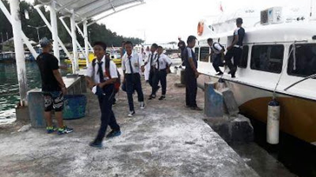 Kapal Gratis Anak Seribu Pulau