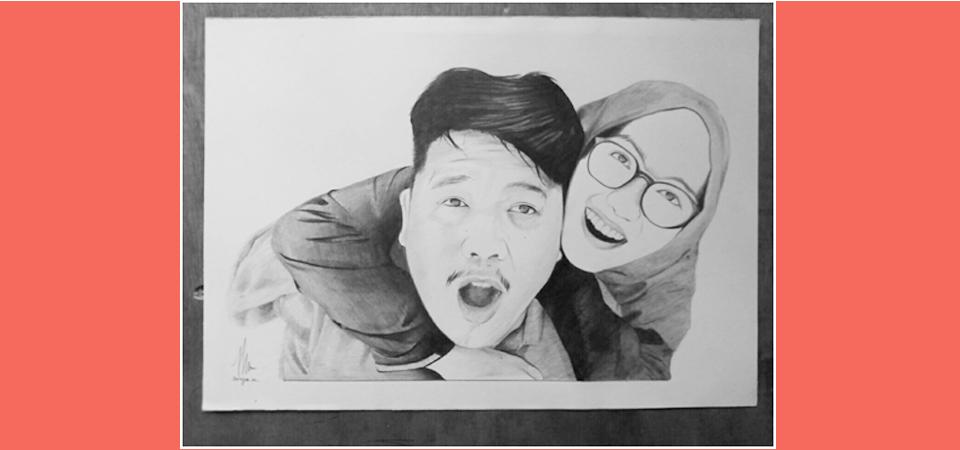 Sketsa Wajah Ismaya Hunafa