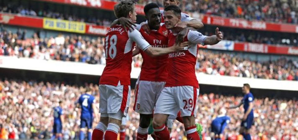 Selebrasi pemain Arsenal. (Photo: AFP)