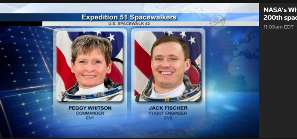 Astronot Peggy dan Jack Buat Sejarah Baru