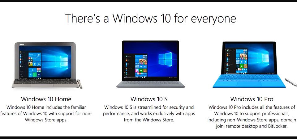 Microsoft Rilis Windows 10S