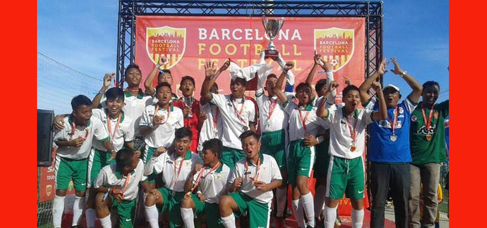Indonesia Jawara di Barcelona Football Festival 2017