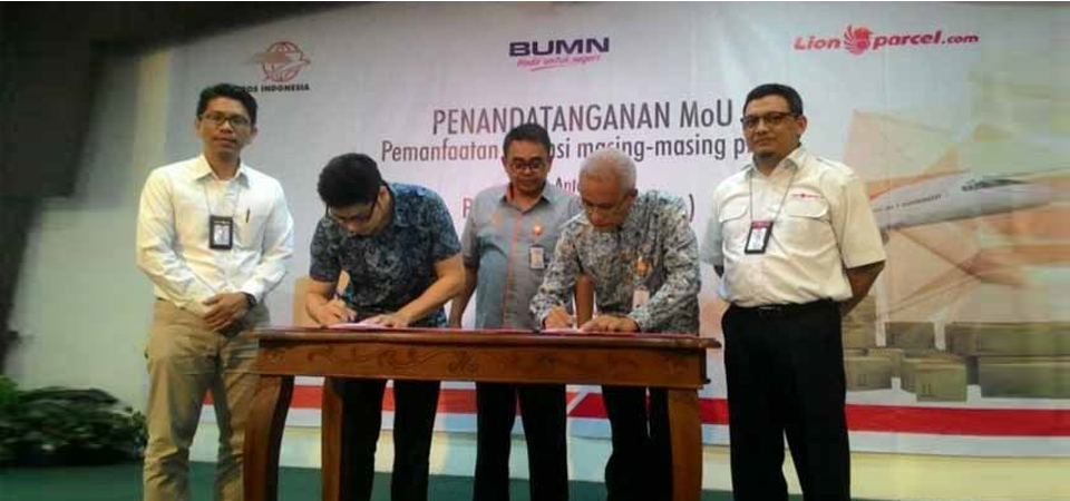 Pos Indonesia dan Lion Express Jalin Kerja Sama