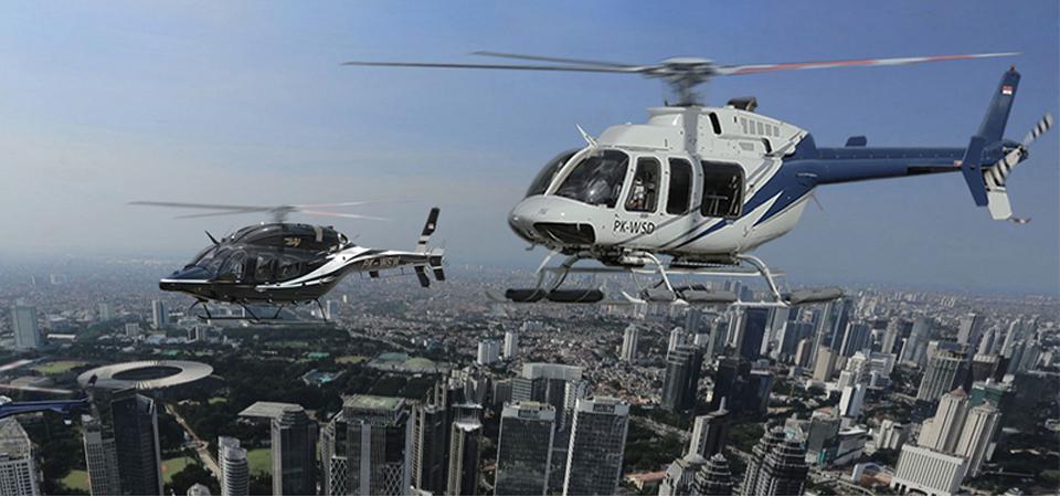Tembus Kemacetan dengan Helikopter, Mau?
