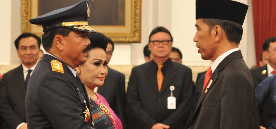 Presiden Jokowi Lantik Marsekal Hadi Tjahjanto Jadi Panglima TNI
