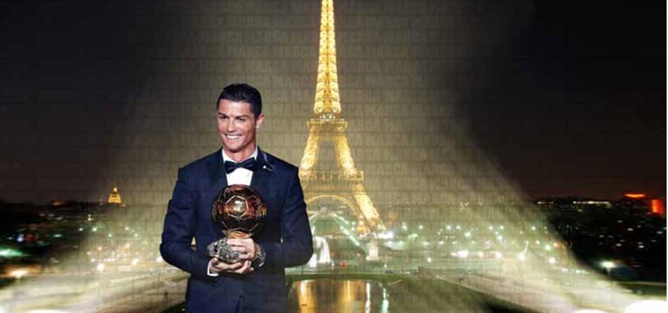 Cristiano Ronaldo Raih Gelar Ballon d'Or 2017