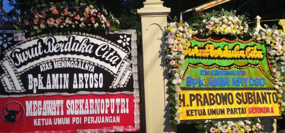 """""""Megawati"""" Jejer """"Prabowo"""" di Kedukaan Amin Arjoso"""