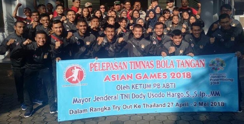 Tim Handball Indonesia Uji Coba ke Thailand