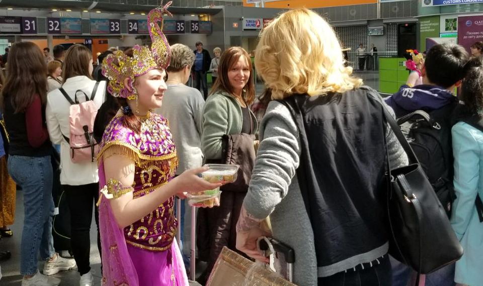 Tari Sintren di Bandara Boryspil Kiev
