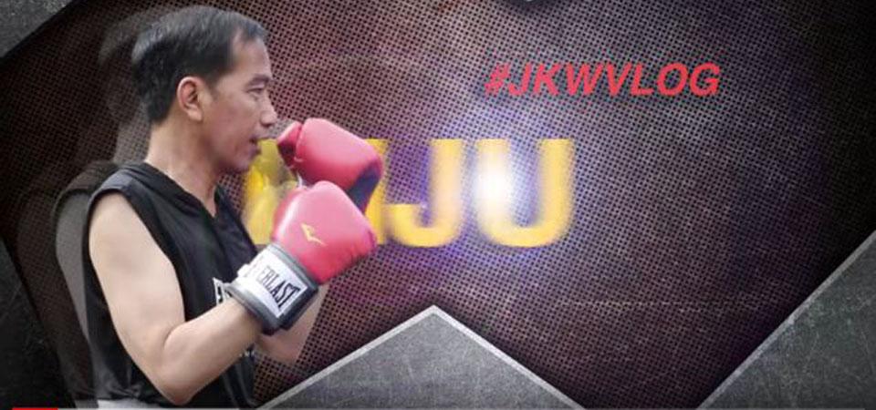 Yukk… Lihat Jokowi Latihan Tinju