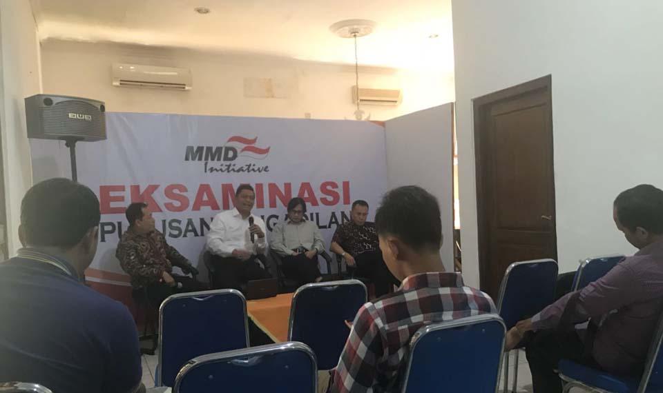 Lembaga kajian MMD Initiative Jakarta menggelar eksaminasi atas putusan pengadilan mantan Gubernur Bengkulu Ridwan Mukti, Rabu (2/5),