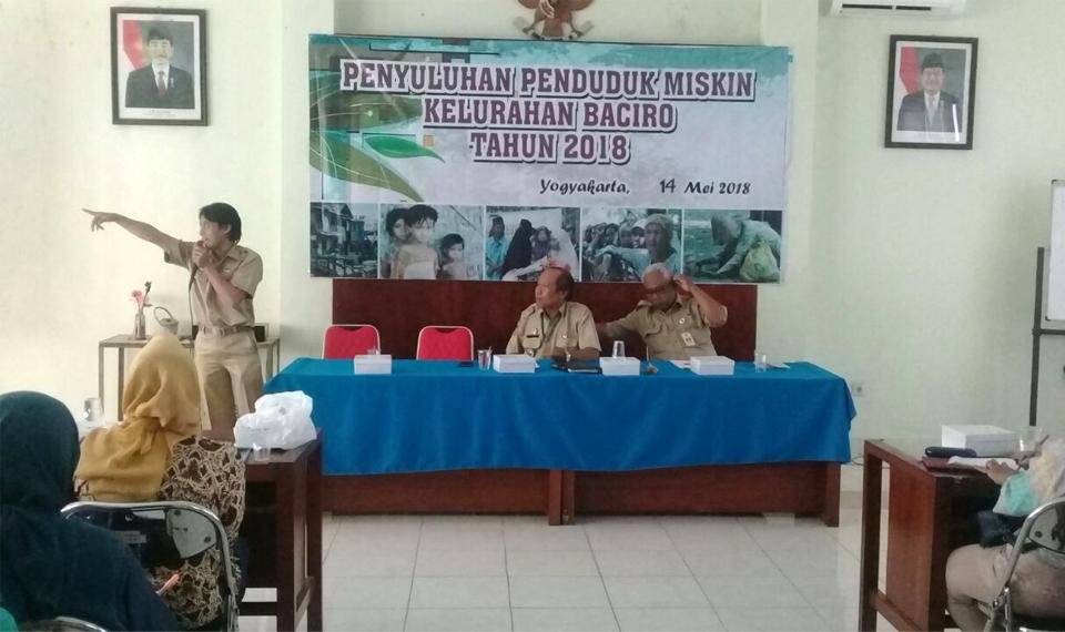 Sosialisasi Warga Miskin Baciro, Yogyakarta