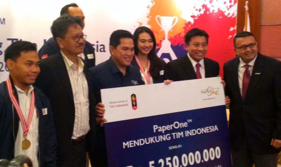 PaperOneTM Suntik Dana 5,250 M Dukung Tim Indonesia di AG 2018