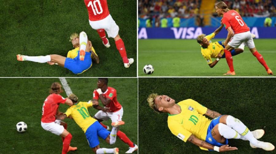 Neymar Jadi Terget Pelanggaran Pemain Swiss 10 Kali