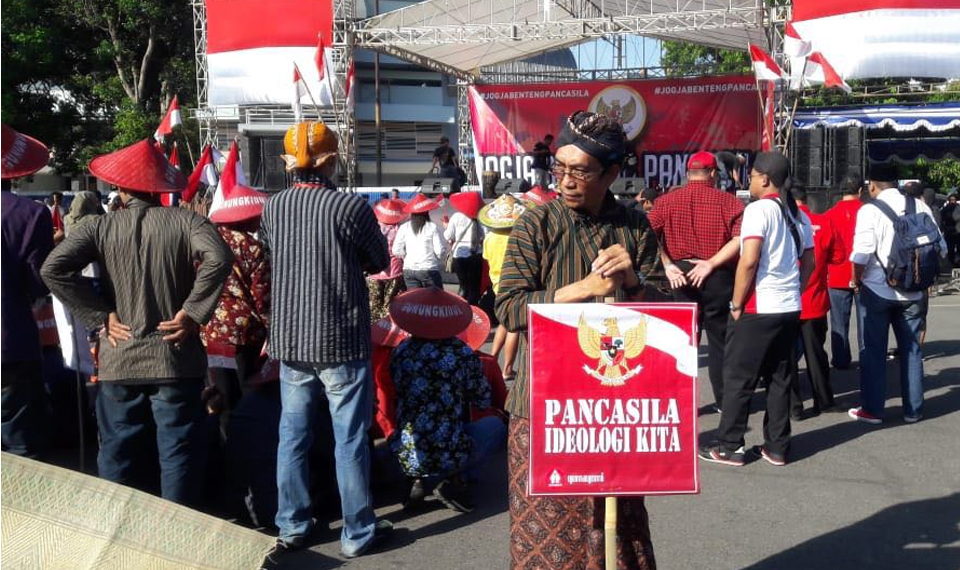 Aksi Gemayomi Jaga Pancasila dan NKRI