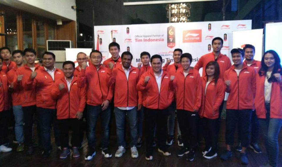 Kontingen Indonesia Didukung Li Ning