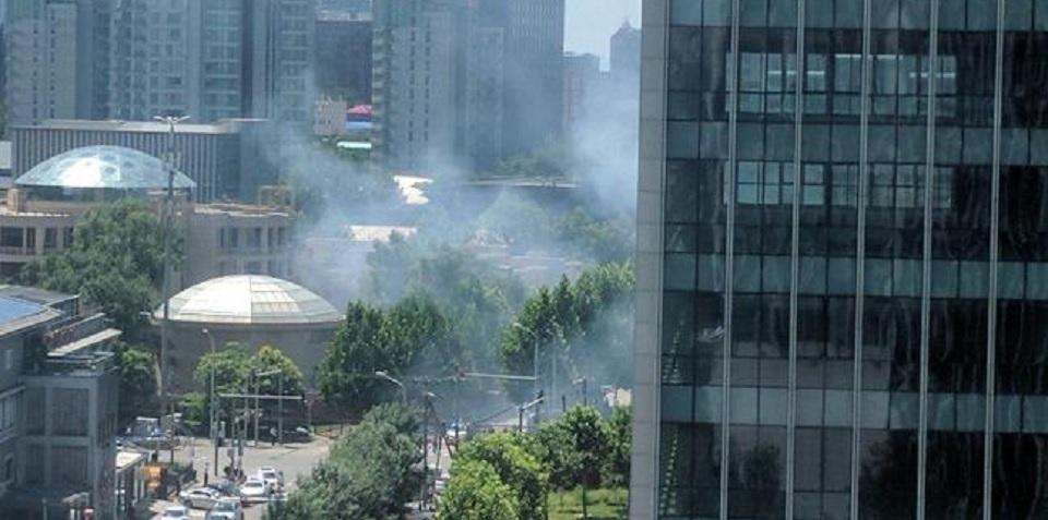 Ledakan di luar Kedutaan AS di Beijing