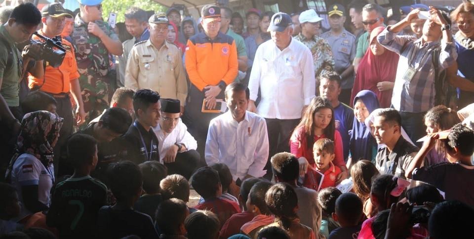 Presiden Jokowi Tengok Korban Gempa NTB