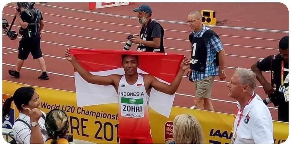 Spinter Asal NTB Lalu Muhammad Zohri Catat Sejarah di Kejuaraan Dunia U20