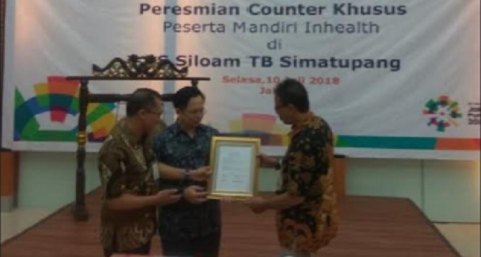 RS Siloam TB Simatupang Miliki Counter Khusus Mandiri InHealth