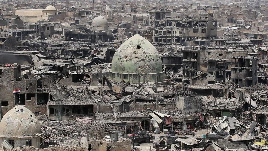 Mosul telah dilupakan dunia, bau mayat masih selimuti kota