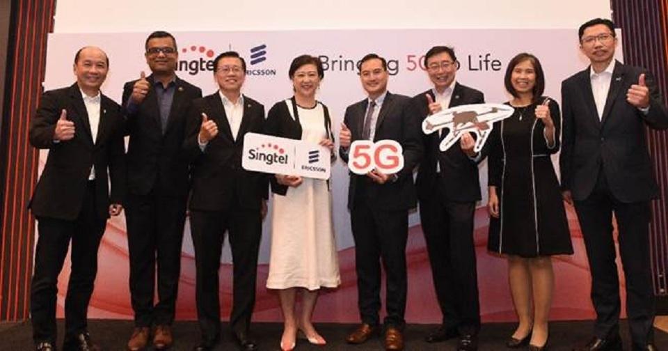 Singtel & Ericsson akan luncurkan percontohan 5G Singapura akhir 2018 ini