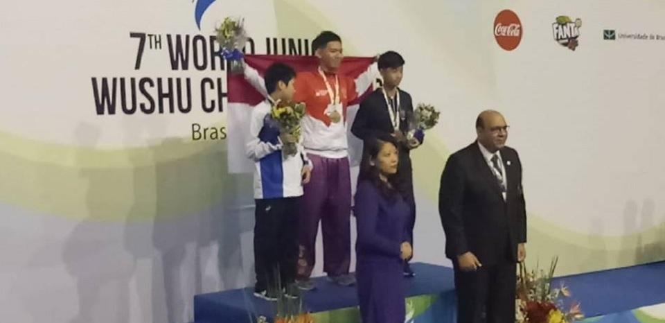 Jevon Raih Emas di Kejuaraan Dunia Wushu Yunior