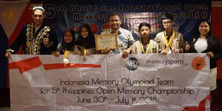 Indonesia Borong Medali Dalam Philipphine Open Memory Championship