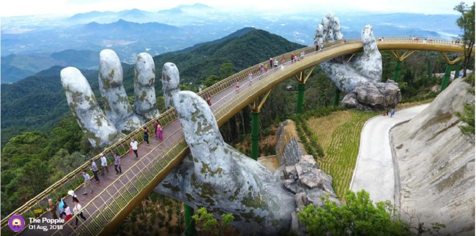 Jembatan Ini Istirahat di Topang Tangan Raksasa