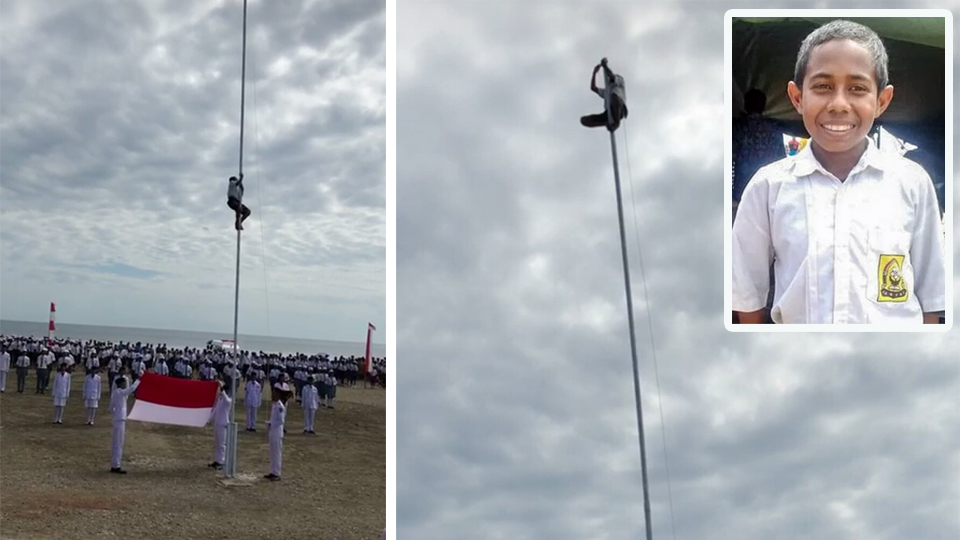 Pemanjat Tiang Bendera itu Dapat Beasiswa Hingga Sarjana