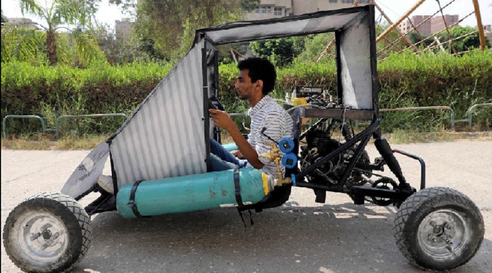 Mahasiswa Mesir Mendesain Mobil yang Melaju dengan Oksigen