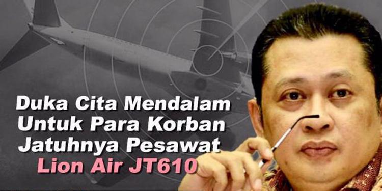 Ketua DPR Bambang Soesatyo Minta Kasus Jatuhnya Lion Air Diselidiki