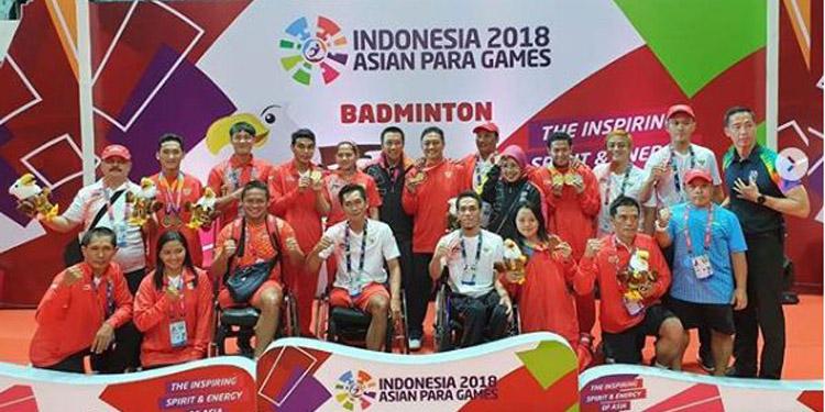 Jelang Penutupan Asian Para Games, Bulutangkis Dulang 4 Medali Emas