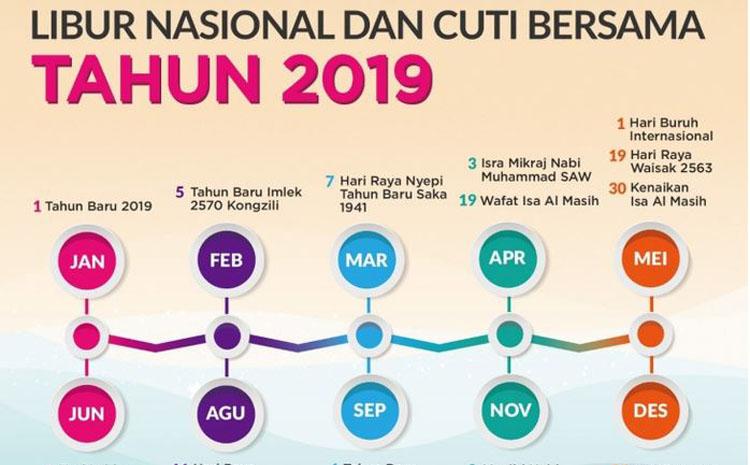 Libur Nasional dan Cuti Bersama 2019