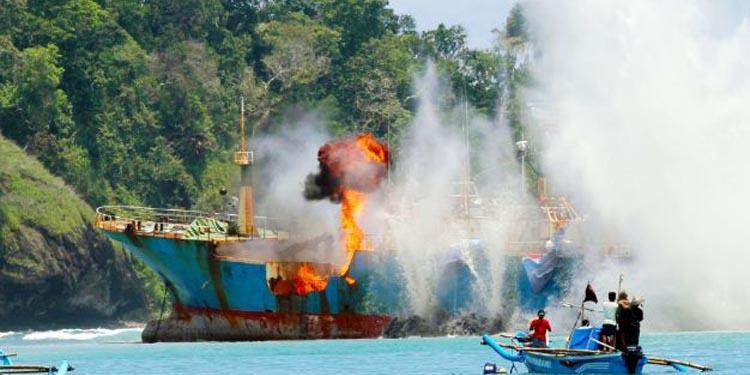 Januari 2017 – Oktober 2018, 488 Kapal Pencuri Ikan Ditenggelamkan