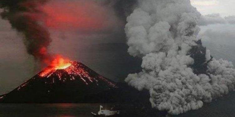 Tinggi Gunung Anak Krakatau Tinggal 110 Meter