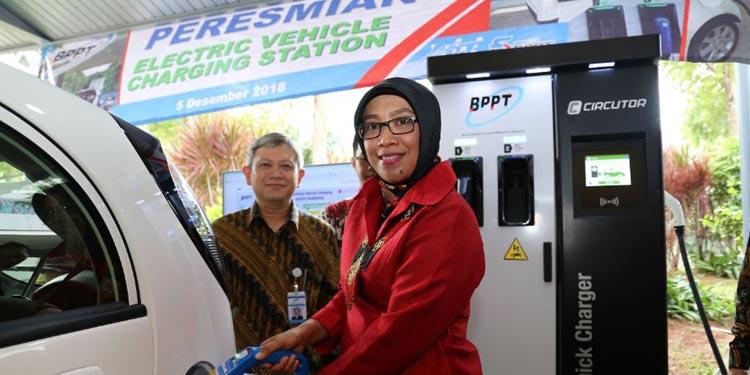 BPPT Luncurkan Stasiun Pengisian Daya Mobil Listrik