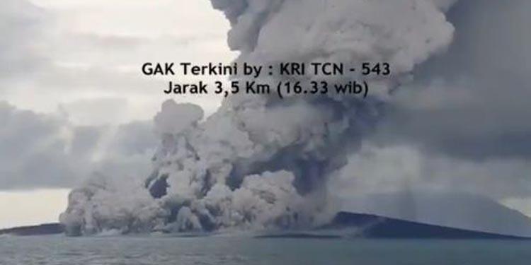 Waspadalah! Gunung Anak Krakatau Masih Erupsi