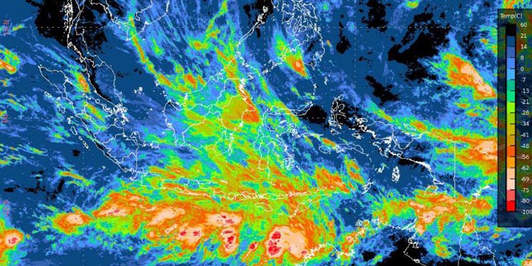 BMKG Monitor Tiga Bibit Badai Tropis di Dekat Wilayah Indonesia