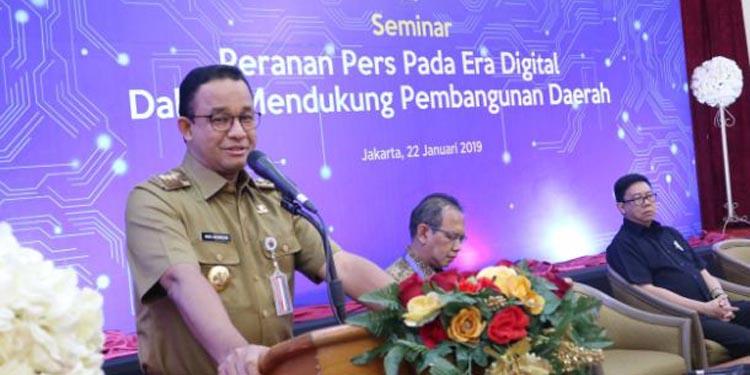 Anies: Pemda DKI Jakarta Perlu Tekanan Pers