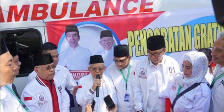 Ma'ruf Amin Berangkatkan Relawan Medis Bantu Korban Tsunami Banten