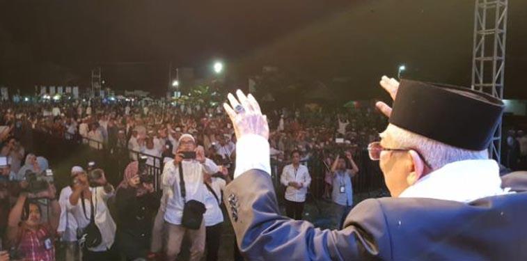 Ma'ruf Amin Minta Rakyat takTerpecah Belah karena Beda Pilihan
