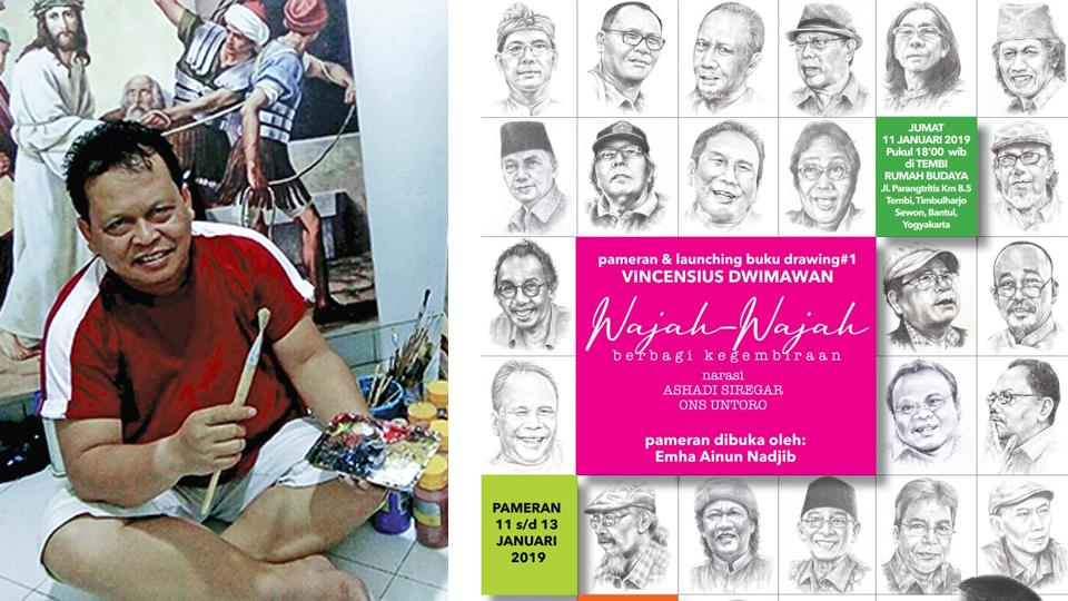 Wajah Wartawan dalam Drawing Karya Sius