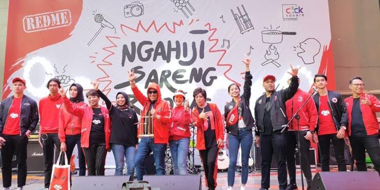 Meriahnya 'Ngahiji Bareng Red Me' di Bandung