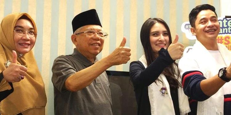 Pesinetron Adly Fairuz Berharap Kakeknya Ma'ruf Amin Menang Pilpres
