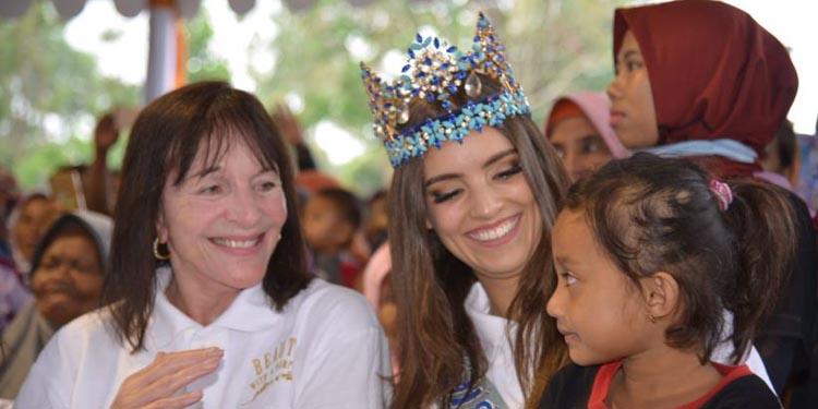 Miss World 2018 Vanessa Ponce Kunjungi Korban Gempa Lombok