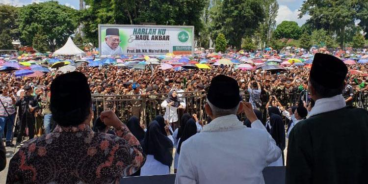 Ma'ruf Amin Hadiri Harlah NU Ke-96 di Wonosobo
