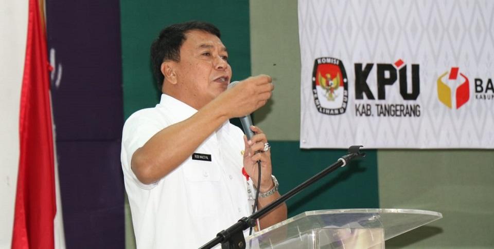Sekda Kab. Tangerang Pimpin Rakor  Persiapan Pemilu 2019