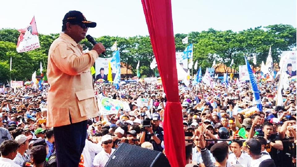 Prabowo: Rakyat tak Bisa Dikalahkan