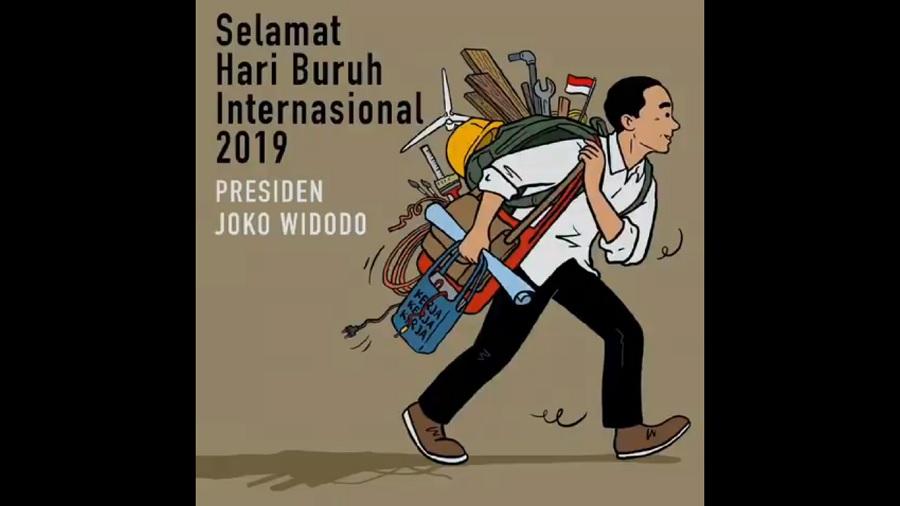Jokowi Minta Buruh Profesional dan Kerja Keras